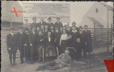 Historisches Foto Die ersten 20 Siedler, Heidenau, Krieger Heimat Verein