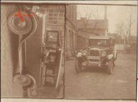 Historisches Foto Auto Chevrolet Modell 1927, 2 Ansichten
