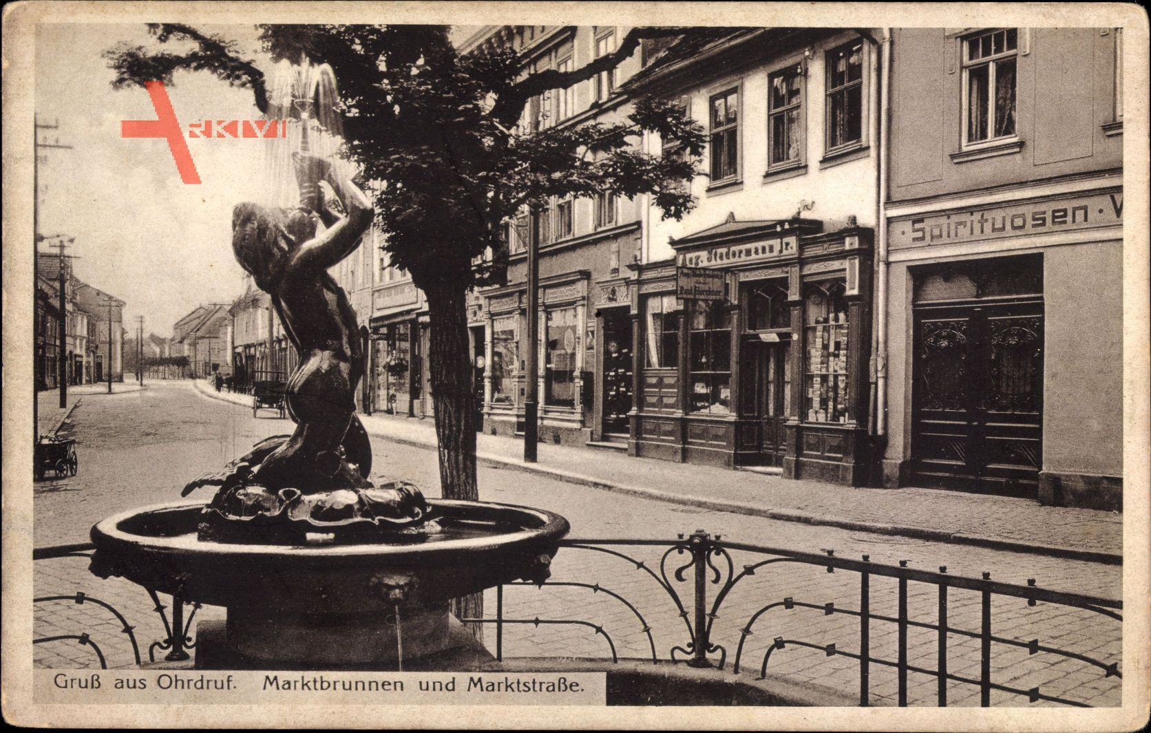Ohrdruf im Thüringischen Kreis Gotha, Marktbrunnen und Marktstraße