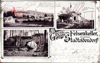 Stadtoldendorf in Niedersachsen, Felsenkeller, Fr. Herbst, Totalansicht