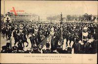 Paris 1914, Visite des Souverains Anglais, Cortège, Place de la Concorde