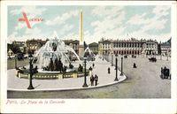 Paris, La Place de la Concorde, Springbrunnen, Obelisk, Passanten