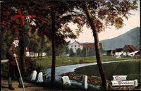 Gruß aus Westfalen, Fluss, Wanderer, Westfalenlied, Herbst