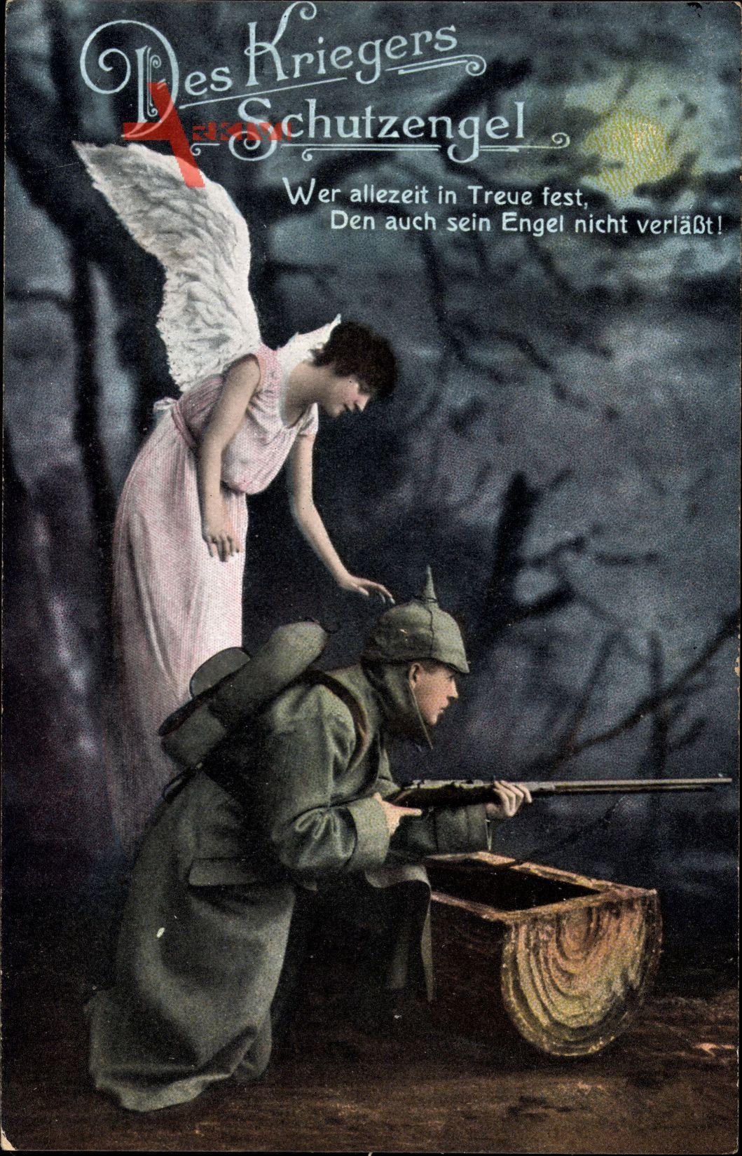 Des Kriegers Schutzengel, Wer allezeit in Treue festm den auch sein Engel