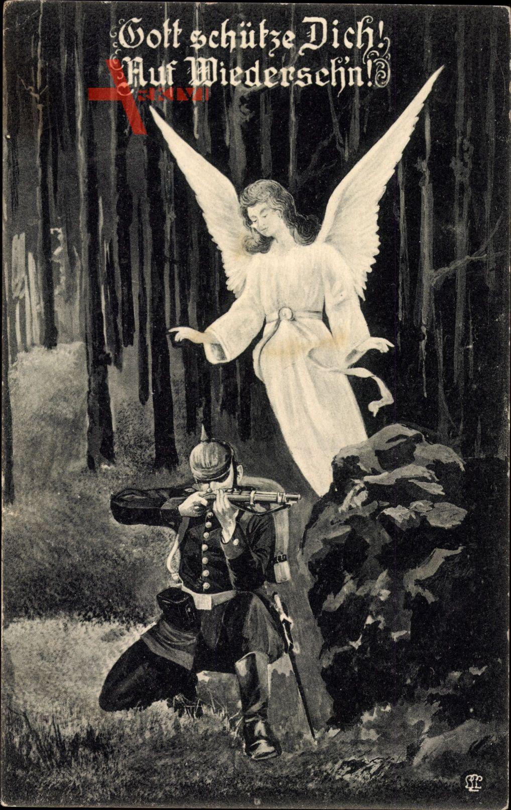 Gott schütze Dich, Auf Wiedersehn, Schütze, Schutzengel