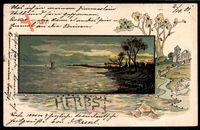 Perl Allegorie Herbst, Landschaft, Gewässer