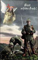Gott schütze Euch, Schutzengel, Soldaten, Gewehr, Pfeife