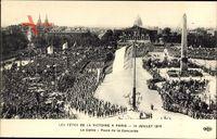 Les Fêtes de la Victoire à Paris, 14 Juillet 1919,Défilé,Place de la Concorde