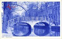 Delft Südholland Niederlande, Koornmarkt, Brücke, Herbst