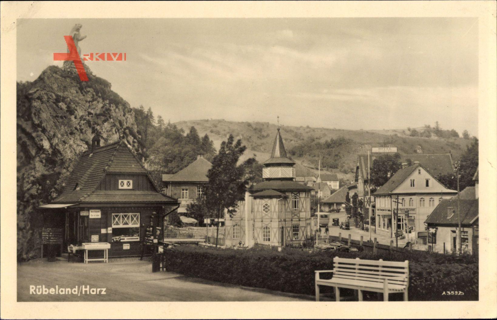 Rübeland Oberharz am Brocken, Parkeingang, Berg, Bärenstatue