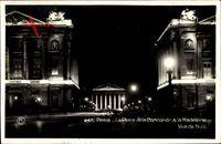 Paris, La place de la Concorde, La Madeleine, Vue de Nuit