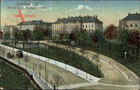 Zwickau in Sachsen, Kaserne des 9. Inf. Regts. No, 133, Straßenbahn