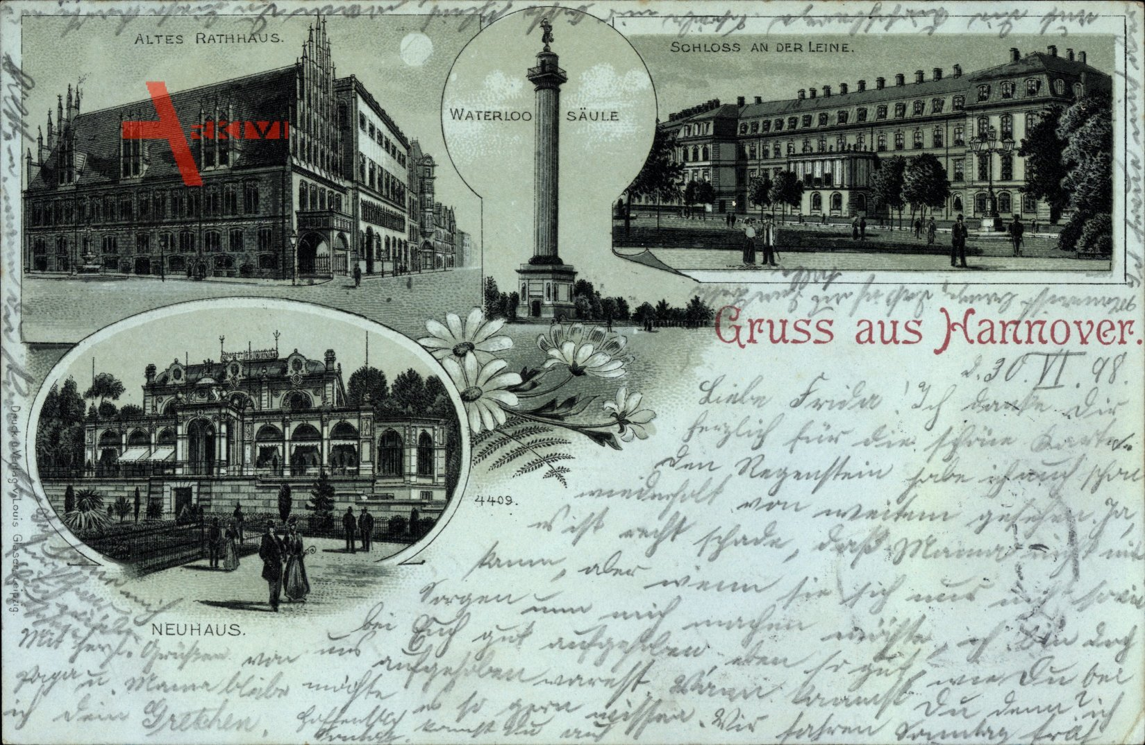 Hannover in Niedersachsen, Neuhaus, Waterloo Säule, Schloss