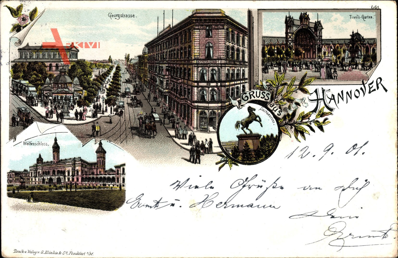 Hannover in Niedersachsen, Georgstraße, Tivoli, Welfenschloss