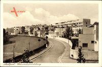 Stuttgart Weißenhof, Straßenpartie in der Weißenhofsiedlung, Bauhaus