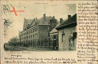 Beeskow im Kreis Oder Spree, Blick auf die Artillerie Kaserne, Fassade