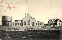 Ottendorf Okrilla im Kr. Bautzen, Blick auf die Gasanstalt, Kraftwerk