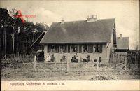 Wildtränke Melchow Mecklenburg, Blick auf das Forsthaus, Anwohner