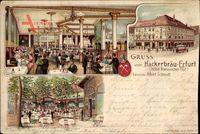 Erfurt in Thüringen, Hackerbräu, Hotel Rheinischer Hof, Albert Schmidt