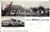 Schwarz Calbe an der Saale im Salzlandkreis, Gastwirtschaft W. Kaiser,Bethaus