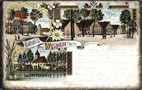 Wespen Barby an der Elbe, Kriegerdenkmal, Schulhaus, Kirche