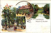 Magdeburg Neustadt in Sachsen Anhalt, Gasthaus Vogelsang, Garten