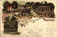 Perleberg in der Prignitz, Schützenhaus, Dampflok, Gartenpartie