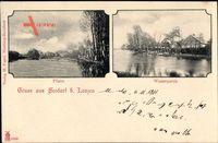 Seedorf Lenzen an der Elbe im Kreis Prignitz, Pfarre, Wasserpartie