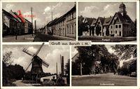 Baruth in der Mark, Torstraße, Holländermühle, Postamt, Golßenerstraße