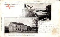 Pinnow Borgsdorf Hohen Neuendorf Oberhavel, Kanalbrücke, Gasthof Paddenkrug
