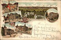 Greußen Thüringen, Gasthof, Schule, Schützenhaus, Gasthaus Prinzen Leopold