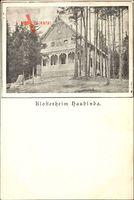 Haubinda Westhausen Thüringen, Blick auf das Klosterheim, Wald