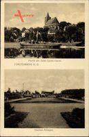 Fürstenberg Oder Eisenhüttenstadt in Brandenburg, Stadion, Oder Spree Kanal