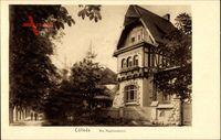 Kölleda Thüringen, Partie am Hopfendamm, Fachwerkhaus, Wohnhaus