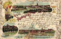 Havelberg in Sachsen Anhalt, Dom, Totalansicht, Brücke