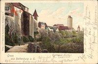 Rothenburg ob der Tauber Mittelfranken, Stadtmauer Partie