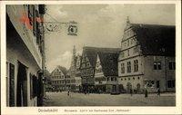 Dinkelsbühl im Kreis Ansbach Mittelfranken, Weinmarkt, Gasthaus Halbmond