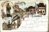 Lutherstadt Eisleben in Sachsen Anhalt, Flan, Luthers Sterbehaus