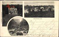 Rohrbrunn Weibersbrunn in Bayern, Jagdschloss, Wildschweine, Totalansicht
