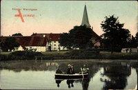 Wennigsen Deister, Teichpartie mit Blick auf das Kloster