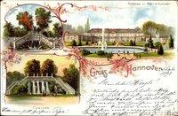 Hannover in Niedersachsen, Schloss in Herrenhausen, KasKade, Grotte