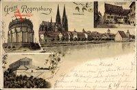 Regensburg a.d. Donau Oberpfalz, Walhalla, Altes Rathaus, Befreiungshalle