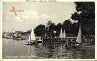 Vegesack Bremen, Bremer Schweiz, Segelboote, Anlegestelle
