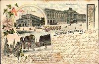 Braunschweig in Niedersachsen, Theater, Residenzschloss, Burgplatz