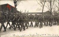 Paderborn in Nordrhein Westfalen, Ankunft im Sennelager 6.3.1929