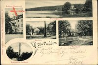 Berlin Wilmersdorf Grunewald Paulsborn, See, Saubucht, Schildhorn Denkmal