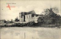 Seeburg Seegebiet Mansfelder Land, Blick auf das Schloss, Ruine