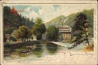 Lauenhain Mittweida Sachsen, Blick auf die Lauenhainer Mühle