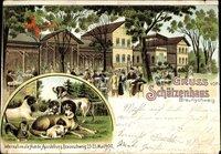 Braunschweig Niedersachsen, Internat. Hundeausstellung 1900, Schützenhaus