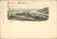 Würzburg am Main Unterfranken, Totalansicht der Ortschaft, Brücke, Fluss